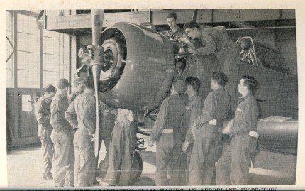 Airplane inspection - Sheppard Field 1942