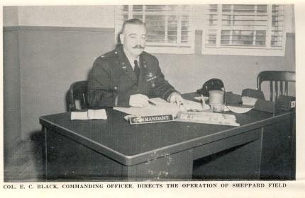 Col E.C. Black - Cammandant Sheppard Field 1942