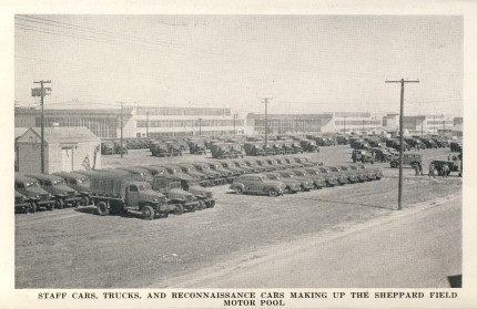 Motor Pool - Sheppard Field 1942